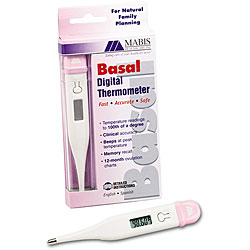 Mabis Healthcare Digital Basal Thermometer with .01 Precision