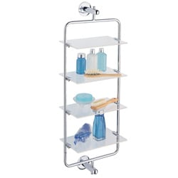 Acrylic and Metal 4-tier Mounting Shelf