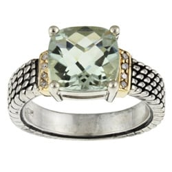 meredith leigh 14k gold and silver green amethyst and