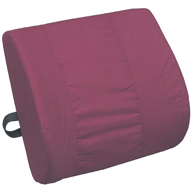 Mabis Healthcare Burgundy Contoured Foam Lumbar Cushion