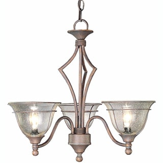 Copper Patina 3-light Chandelier