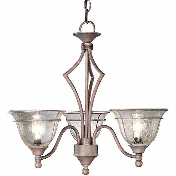 Copper Patina 3-light Chandelier