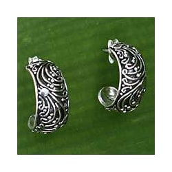 Sterling Silver 'Prairie' Earrings (Indonesia)