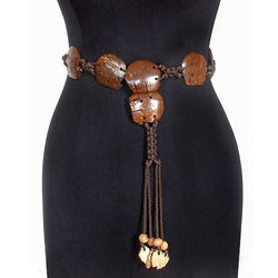 Coconut 'Elephant March' Belt (Thailand)