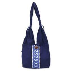 Cotton 'Blue Butterflies' Handbag (Thailand)