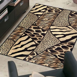 Admire Home Living Virginia Animal Print Area Rug (3'3 x 4'11)