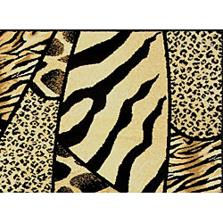 Admire Home Living Virginia Animal Print Area Rug (5'5 x 7'7)