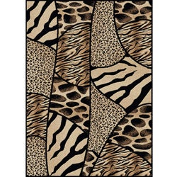 Virginia Animal Print Area Rug (5'5 x 7'7)