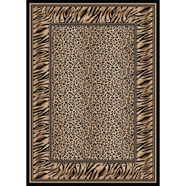 Admire Home Living Virginia Leopard Print Rug (5'5 x 7'7)