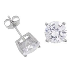Journee Sterling Silver CZ 8-mm Round Stud Earrings
