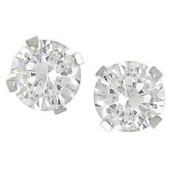 Tressa Sterling Silver CZ 4-mm Round Stud Earrings