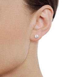 Tressa Sterling Silver CZ 5-mm Round Stud Earrings