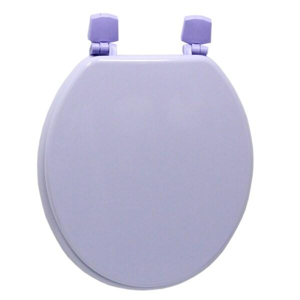 Corn Flour Purple Molded Wood Solid Toilet Seat 11525373 Sh