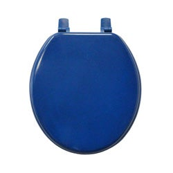 Cobalt Blue Molded Wood Solid Toilet Seat