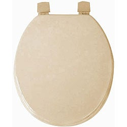Taupe Molded Wood Solid Toilet Seat