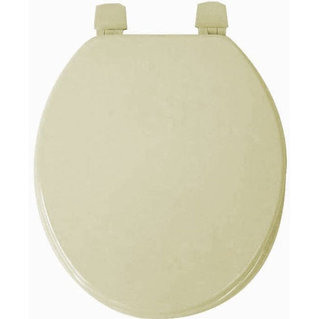 Light Olive Molded Wood Solid Toilet Seat