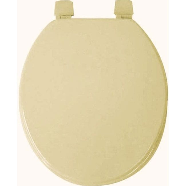 Trimmer Molded Wood Solid Toilet Seat
