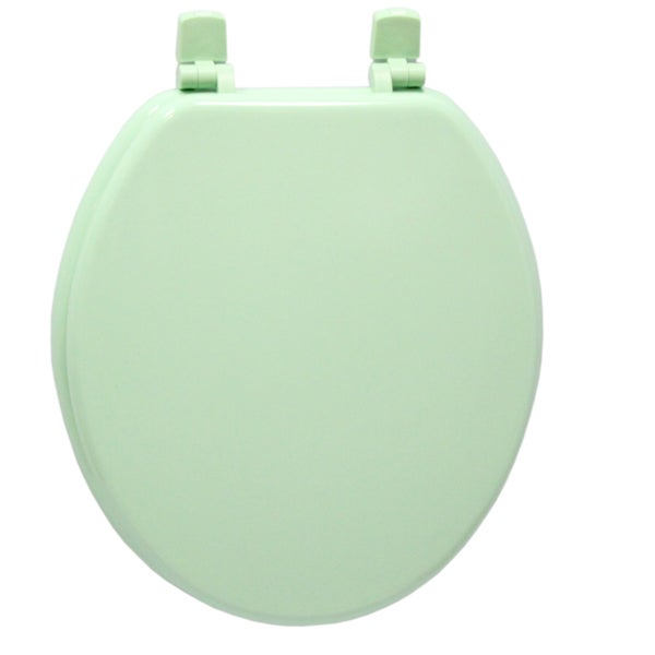 Green Solid Molded Wood Toilet Seat