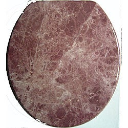 Burgundy Marblized Molded Wood Toilet Seat