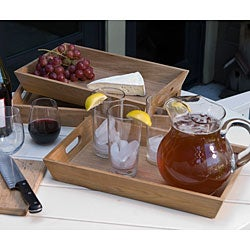 Teak Serving Tray (Set of 3)