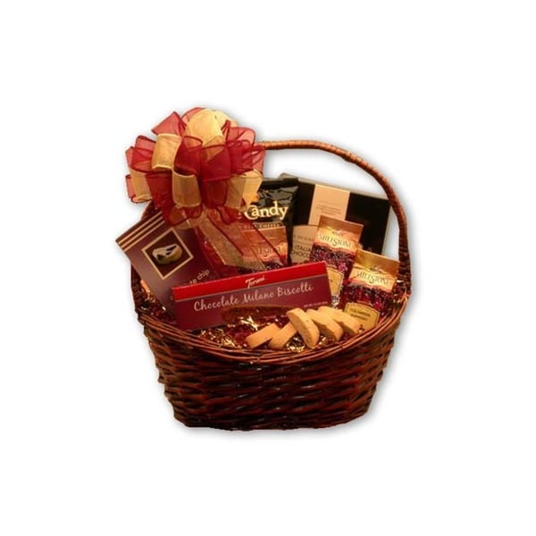 Gourmet Coffee Delights Gift Basket Fine Cheese, Oils, Balsamic -