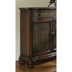 Hand-painted Accent Chest with Faux Metal Front