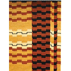Safavieh Hand-knotted Zipper Contemporary Wool Rug (7'6 x 9'6)