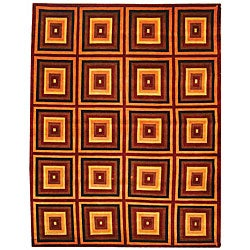 Safavieh Hand-knotted Squares Contemporary Wool Rug (7'6 x 9'6)