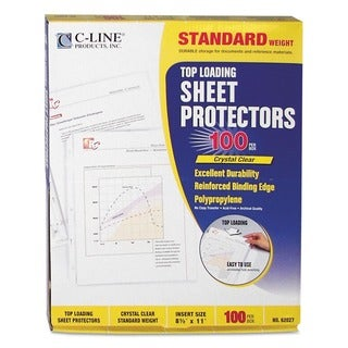 Clear Sheet Protectors for 8.5x11-inch Inserts (Case of 100)