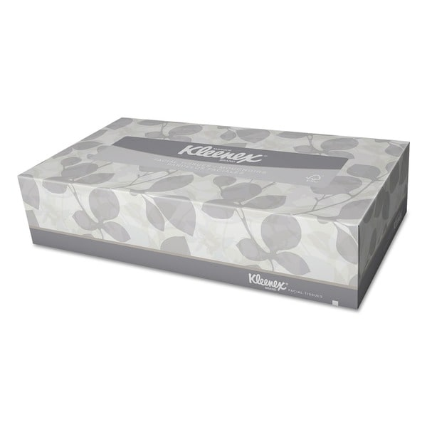 Kleenex Two-ply Pack-of-12 White Facial Tissue (125 Tissues per Box)