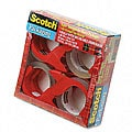 Scotch Packing Tape and Dispenser (Pack of 4 Rolls)