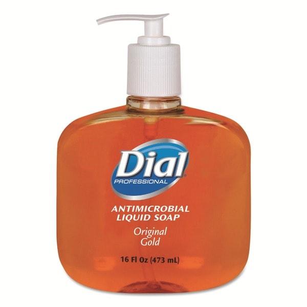 Dial Liquid 16-oz Antimicrobial Soap (Carton of 12)