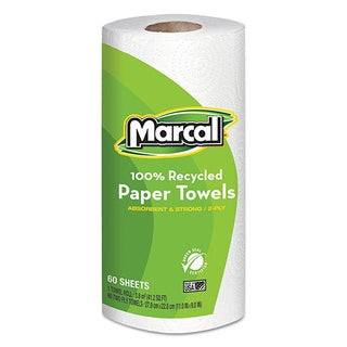 Marcal 100-percent Recycled 2-ply White Paper Towels (Pack of 15)