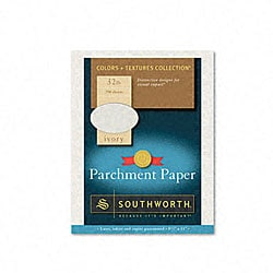 Colors+Textures Ivory Parchment Paper (Case of 250)
