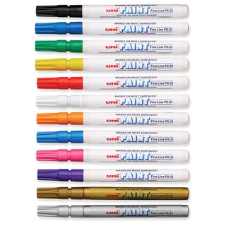 Uni-Paint Weatherproof Oil-based Paint Marker (Pack of 12)