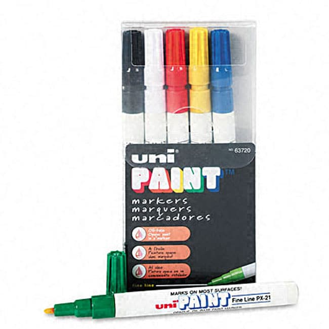 Uni paint oil based fadeproof paint markers pack of 6 11529238 overstock shopping top - Best oil based exterior paint collection ...