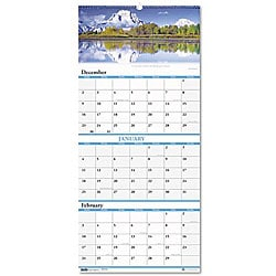 Earthscapes 3 Months per Page Wall Calendar