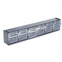 Deflecto 6-bin Tilt Bin Storage System