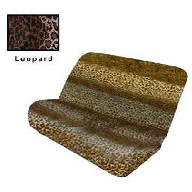 Tan Leopard Print Bench Seat Cover