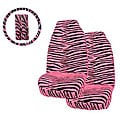 Pink Zebra Print 5-piece Car Accessories Set