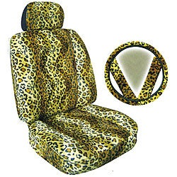 Leopard Print 7-piece Car Accessories Set