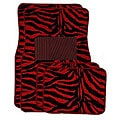 Front and Rear Red Zebra Floor Mats