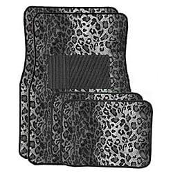 Snow Leopard Front and Rear Carpet Car Floor Mats