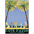 Jean Dumergue 'Cote D'Azur' Framed Canvas Art
