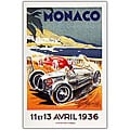 George Ham 'Monaco 13 Avril 1936' Framed Canvas