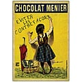 Firmin Boisset 'Chocolate Menier' Framed Canvas Art