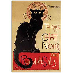 Theophile Steinlen 'Chat Noir' Framed Canvas Art