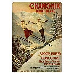 Francisco Tamanjo 'Chamonix Mont Blanc' Framed Art