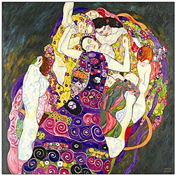 Gustav Klimt 'Virgins' Framed Canvas Art