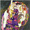 Gustav Klimt 'Virgins' Framed Canvas Art